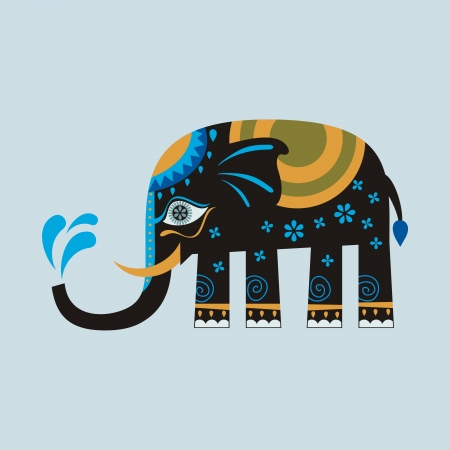 Decorated elephant Vector