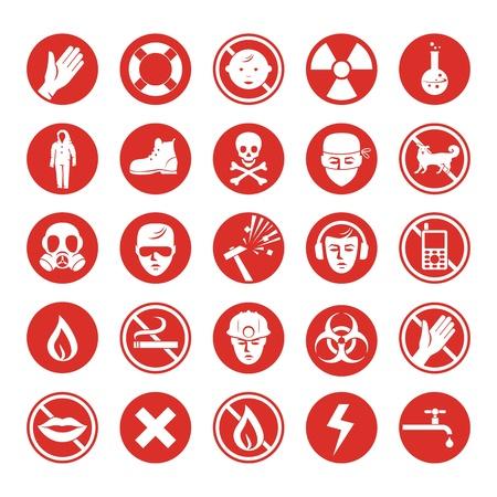 biohazard: Ensemble de protection pour le travail avec diverses ic�nes