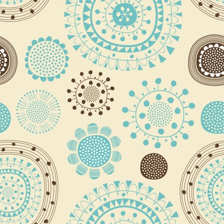 Seamless festive pattern with decorative floral shapes Stock Vector - 19117831