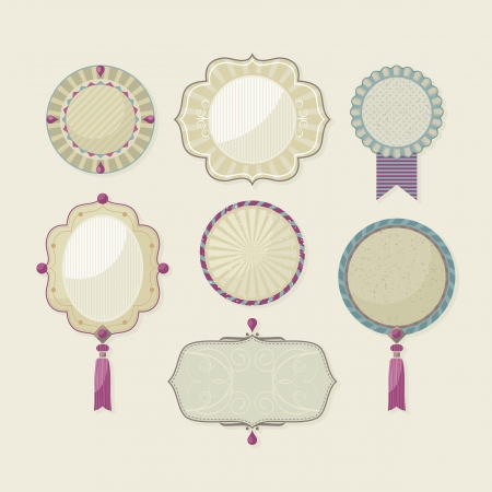 Decorative frames set with spaces for custom text Vector