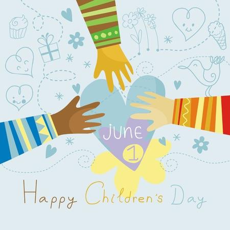 Happy, colorful illustration for Children Ilustração