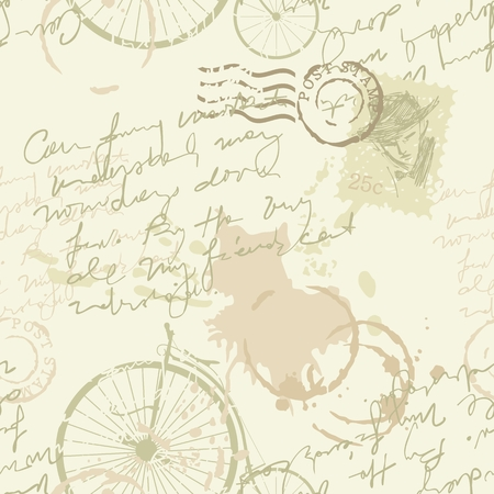 old diary: Vintage background or seamless pattern