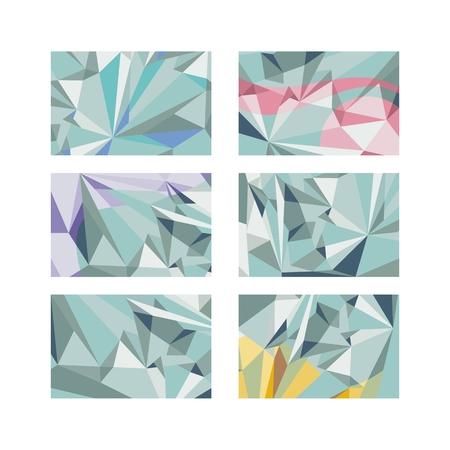 Abstract, sharp shapes horizontal backgrounds. No transparencies. Ilustração