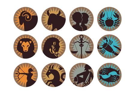 twelve: The twelve signs of the modern zodiac Illustration