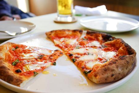 margherita: Margherita pizza Stock Photo