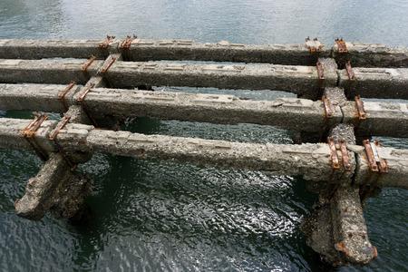 penetracion: muelle de cemento erosionado por da�os sal marina