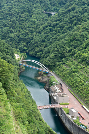 Shin Ishigoya bridge and river near Miyagase dam