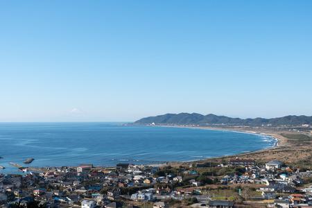 hojo: Hojo Kaigan beach in Tateyama, Chiba and Mt. Fuji in winter