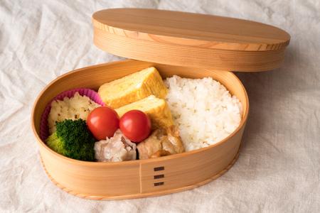 Japanese lunchbox magewappa Stock Photo