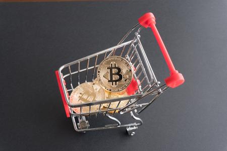 Bitcoin、ショッピングのコンセプト