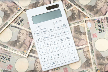 Money Calculator Concept Stockfoto