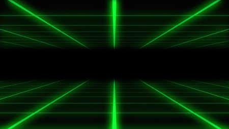 Green grid surface on black background Stock fotó