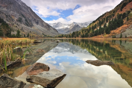 Mountain lake, Altai mountains, Katun ridge  photo