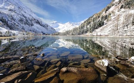Mountain Lake, West Siberia, Altai mountains, Katun ridge