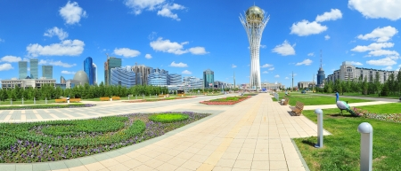 Baiterek landmark, symbol of Astana, capital of Kazakhstan. photo