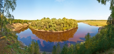 tara: Tara River, Western Siberia, Russia