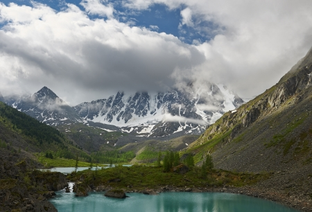 Mountain lake, West Siberia, Altai mountains, Chuya ridge  photo