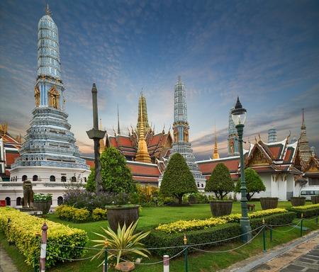 Wat Phra Kaeo, il Tempio del Buddha di smeraldo Bangkok, Tailandia Asia Archivio Fotografico