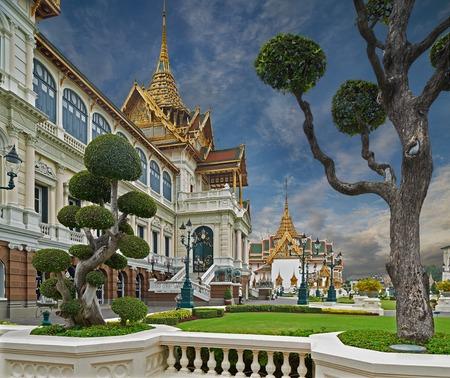 Il Grand Palace � un complesso di edifici nel cuore di Bangkok, Thailandia Il palazzo � stato la residenza ufficiale dei re di Siam e successivamente Thailandia dal 1782