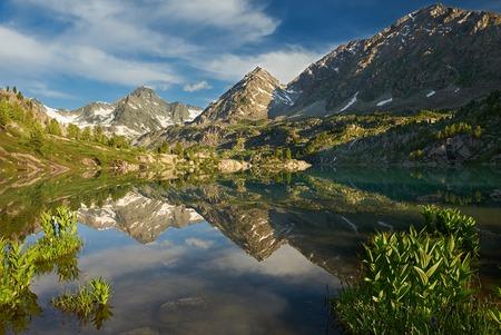 katun: Mountain lake, Russia West Siberia, Altai mountains, Katun ridge.