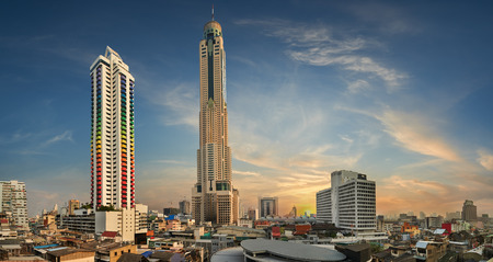 Baiyoke Tower  is an 85-storey, 304 m (997 ft) skyscraper hotel at 222 Ratchaprarop Road in the Ratchathewi district of Bangkok, Thailand. Editorial