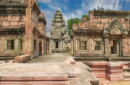 patronage: The Phimai Sanctuary, Nakhon Ratchasima. Ancient Siam (formerly known as Ancient City) is a park constructed under the patronage of Lek Viriyaphant and spreading over 200 acres, Thailand. Editorial