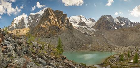 Mountain lake, Russia, Siberia, Altai mountains, Chuya ridge. photo
