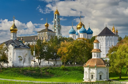 holy cross: The Holy TrinitySt. Sergius Lavra Sergiev Posad Moscow district Russia.
