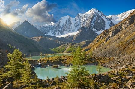 summit lake: Mountain lake Russia Siberia Altai mountains Chuya ridge.