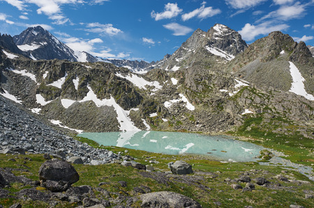 katun: Mountain lake, Russia, Siberia, Altai mountains, Katun ridge. Stock Photo