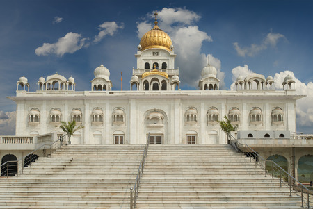 gurudwara: Gurudwara Bangla Sahib is one of the most prominent Sikh gurdwara, in Delhi, India and known for its association with the eighth Sikh Guru, Guru Har Krishan, as well as the pool inside its complex.