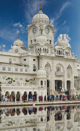 gurdwara: Famous indian landmark - Sikh gurdwara Golden Temple Harmandir Sahib. Amritsar, Punjab, India