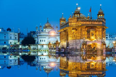 amritsar: Famous indian landmark - Sikh gurdwara Golden Temple Harmandir Sahib. Amritsar, Punjab, India