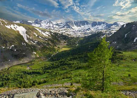 Beautiful summer landscape,Rivers and valleys of the Altai Mountains, Russia, Siberia, Katun ridge.
