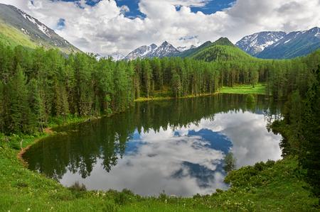 Beautiful summer landscape,mountain lake, Russia, Siberia, Altai mountains, Katun ridge.