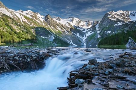 katun: Beautiful summer landscape, mountain lake, Russia, Siberia, Altai mountains, Katun ridge.