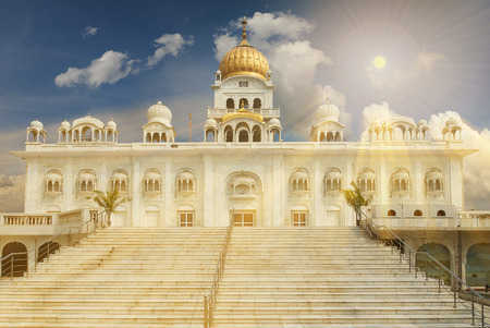 Gurudwara Bangla Sahib is one of the most prominent Sikh gurdwara, in Delhi, India and known for its association with the eighth Sikh Guru, Guru Har Krishan, as well as the pool inside its complex.