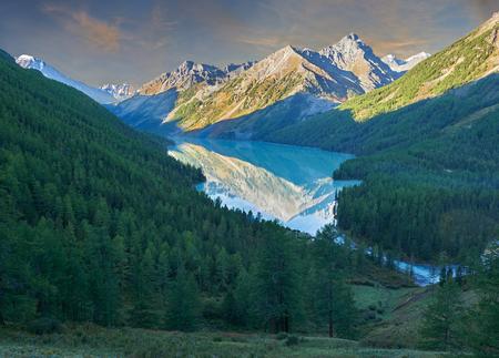 katun: Beautiful autumn landscape, mountain lake, Russia, Siberia, Altai Mountains, Katun Range.