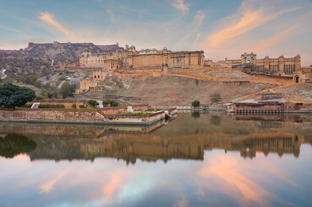 Amer Fort  is located in Amer, a town with an area of 4 sq. kilometres, not far from Jaipur, Rajasthan state, India. Located high on a hill, it is the principal tourist attraction in the Jaipur area.