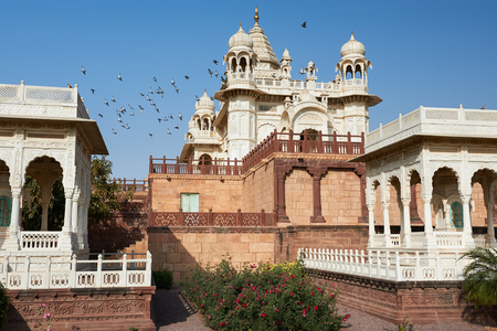 The Jaswant Thada is a cenotaph located in Jodhpur, in the Indian state of Rajasthan. It was used for the cremation of the royal family of Marwar. Jodhpur Rajasthan India. Sajtókép