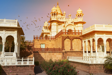The Jaswant Thada is a cenotaph located in Jodhpur, in the Indian state of Rajasthan. It was used for the cremation of the royal family of Marwar. Jodhpur Rajasthan India. Stock fotó