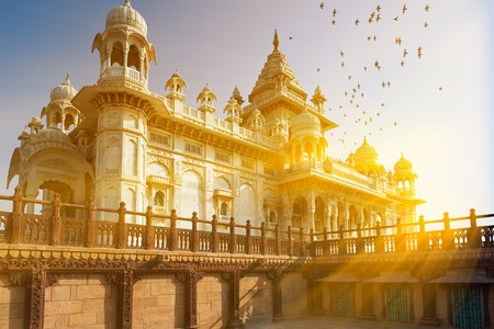 The Jaswant Thada is a cenotaph located in Jodhpur, in the Indian state of Rajasthan. It was used for the cremation of the royal family of Marwar. Jodhpur Rajasthan India. Editorial