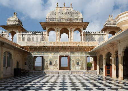 UDAIPUR, INDIA - MARCH 02,2015: City Palace, Udaipur is a palace complex situated in the city of Udaipur in the Indian state of Rajasthan. The palace is located on the east bank of Lake Pichola