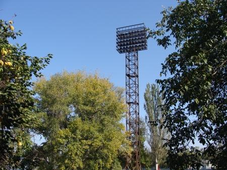Lighting tower of stadium