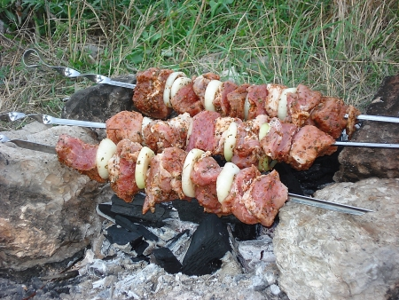 Caucasian cuisine  Shish kebab