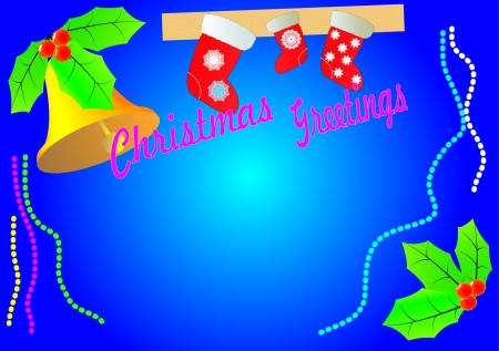 Card With Christmas , the text can be inserted independently