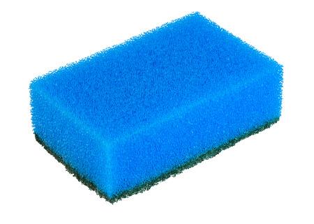 sanitation: hygiene  sponge  cleaning  housework  isolated  kitchen  washing  objects  sanitation blue isolate