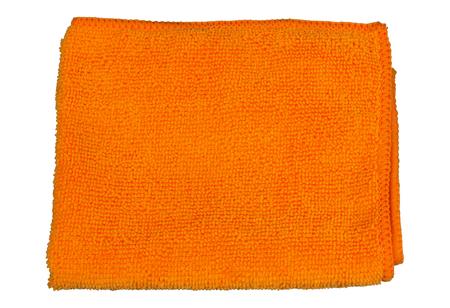microfiber: Microfiber cloth orange isolate.