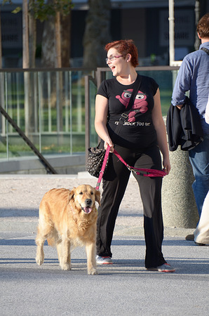 best guide: woman with dog