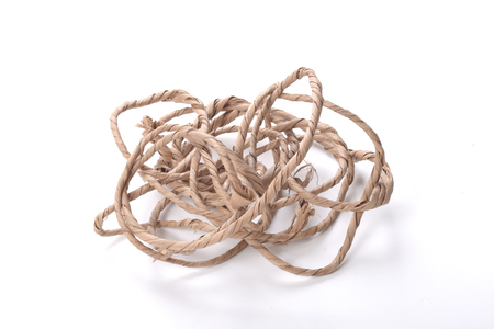 hank: Hank of rope on white background